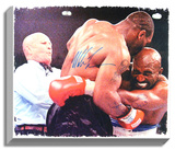 Mike Tyson and Evander Holyfield Dual-Signed Canvas Stretched Canvas Print