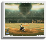 Hank Aaron 715th Home Run Stretched Canvas Print
