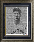 Ted Williams Boston Red Sox Mosaic Framed Photo Framed Memorabilia