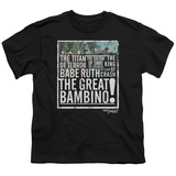 Youth: Sandlot- The Great Bambino T-shirts