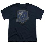 Youth: Battlestar Galactica- 7Th Raptor Squadron Battleaxe Shield T-Shirt