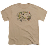 Youth: Gilligans Island- Walking Map T-shirts
