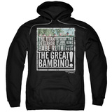 Hoodie: Sandlot- The Great Bambino Pullover Hoodie