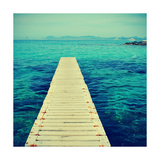 Boardwalk in Ses Illetes Beach in Formentera, Balearic Islands Print by  nito