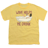 Youth: Bobs Burgers- Wine Helps Me Drink Shirts