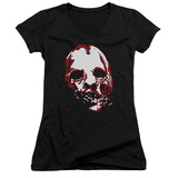 Juniors: American Horror Story- Bloody Face V-Neck T-Shirt