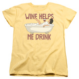 Womans: Bobs Burgers- Wine Helps Me Drink T-Shirt