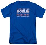 Battlestar Galactica- Roslin For President T-shirts