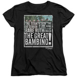Womens: Sandlot- The Great Bambino Shirts
