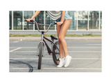 Sexy Female Legs and Bicycle Posters por  blackday