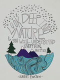 Einstein Nature Poster by Leah Flores