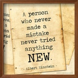 Never Made a Mistake - Albert Einstein Classic Quote Art by Jeanne Stevenson