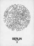 Berlin Street Map White Posters por  NaxArt