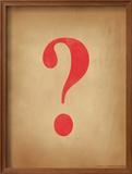 Question Mark Framed Giclee Print by Jeanne Stevenson