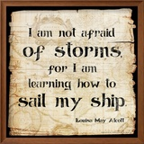 Not Afraid of Storms - Louisa May Alcott Classic Quote Prints by Jeanne Stevenson