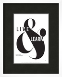 Live and Learn Prints by Antoine Tesquier Tedeschi