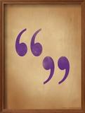 Quote Marks Framed Giclee Print by Jeanne Stevenson