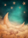 Moon And Stars Posters by  egal