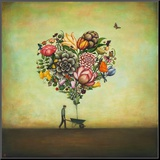 Big Heart Botany Mounted Print by Duy Huynh