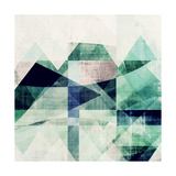 Teal Mountains III Posters by Amy Lighthall