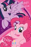 My Little Pony- Twilight Sparkle And Pinkie Pie Pósters