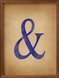 Ampersand Framed Giclee Print by Jeanne Stevenson