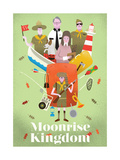 Moonrise Kingdom, em inglês Posters por Chris Wharton