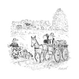 A hitch hiker calls for a ride. - New Yorker Cartoon Premium Giclee Print by Edward Koren
