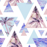 Abstract Summer Geometric Seamless Pattern Pôsteres por  tanycya