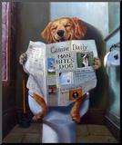 Dog Gone Funny Mounted Print by Lucia Heffernan