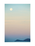 The Full Moon at Moonset over the British Virgin Islands Prints by Heather Perry