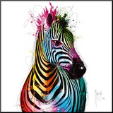 Zebra Pop Mounted Print by Patrice Murciano