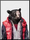 Black Bear Mounted Print by  Animal Crew