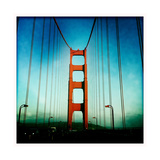 South Tower of the Golden Gate Bridge Poster by Skip Brown