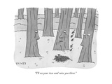 """I'll see your two and raise you three."" - New Yorker Cartoon Premium Giclee Print by Peter C. Vey"
