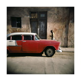 Old Red Car, Havana, Cuba, West Indies, Central America Posters af Lee Frost