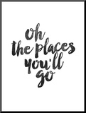 Oh the Places Youll Go Mounted Print by Brett Wilson