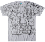 The Simpsons- Bart Sketch Shirts