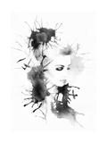 Woman Portrait .Abstract Watercolor .Fashion Background Poster por Anna Ismagilova