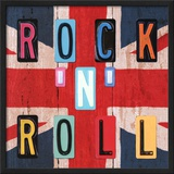 Rock'n Roll British Poster by  Blonde Attitude