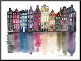 Amsterdam Mounted Print by Claudia Libenberg