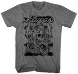 Poison- Skull Snake Lightning T-shirts