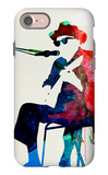 Johnny Lee Hooker Watercolor iPhone 7 Case by Lora Feldman