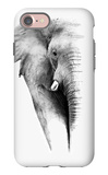Artistic Black And White Elephant iPhone 7 Case by  Donvanstaden