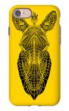 Yellow Zebra Mesh iPhone 7 Case by Lisa Kroll
