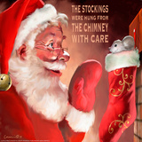 Santa 3 Stockings Prints by Chris Consani