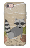 Spring Time Raccoon iPhone 7 Case by  Lantern Press