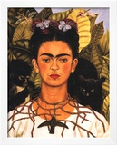 Portrait with Necklace Prints by Frida Kahlo