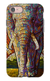 Elephant - Paper Mosaic iPhone 7 Case by  Lantern Press