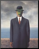 Son of Man (Small) Mounted Print by Rene Magritte